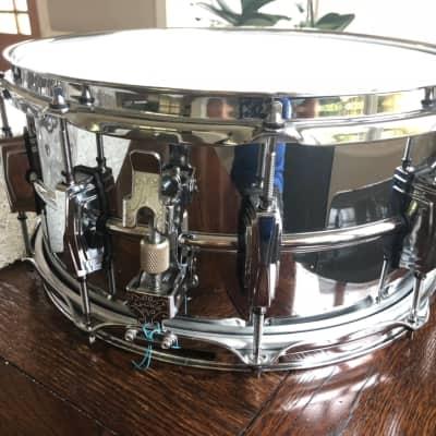 """Ludwig LM402WM Supraphonic 6.5x14"""" Aluminum Snare Drum with P-86 Millennium Strainer"""