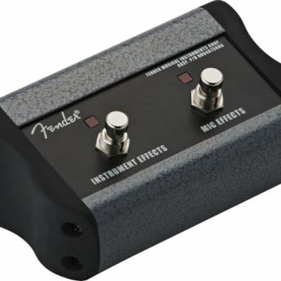 """Fender 006-4673 Acoustasonic Ultralight 2-Button Footswitch with 1/4"""" Jack"""
