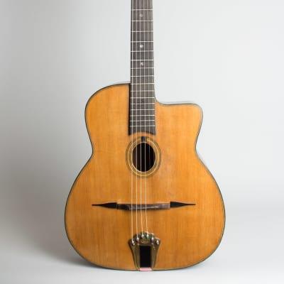 Castelluccia  Petit Bouche Gypsy Jazz Acoustic Guitar,  c. 1955, black tolex hard shell case. for sale
