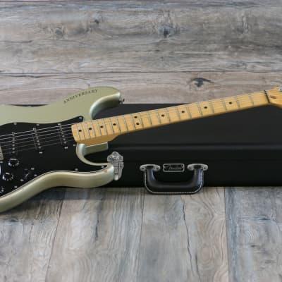 Vintage! 1979 Fender Stratocaster 25th Anniversary Metallic Silver + Hard Case for sale