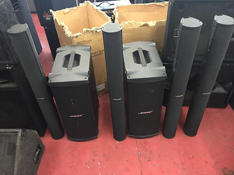 Bose Panaray System 2 Power Amps Digital Crossover Subs MB4 And 4 MA 12 Line Array 2000s Black