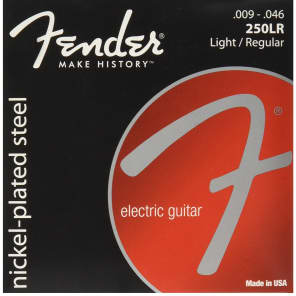 Fender Super 250LR Nickel-Plated Steel Electric Guitar Strings - LIGHT/REG 9-46 for sale