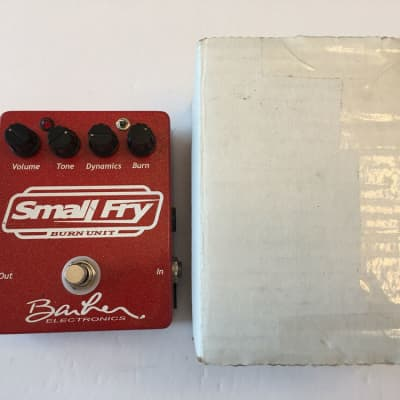 Barber Electronics Small Fry Burn Unit Overdrive Rare Guitar Effect Pedal + Box