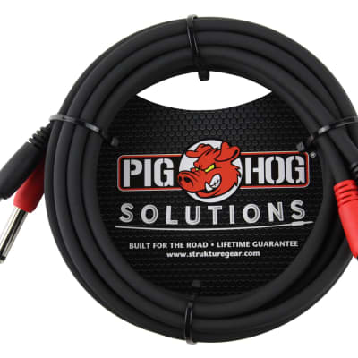 "Lifetime Warranty! Pig Hog Solutions - 10ft RCA-1/4"" Dual Cable, PD-R1410 Free Shipping"