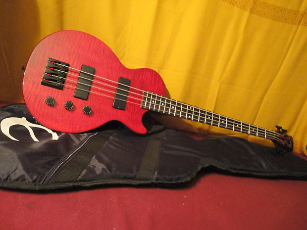 nice used red quilt gibson epiphone les paul 4 string bass reverb. Black Bedroom Furniture Sets. Home Design Ideas