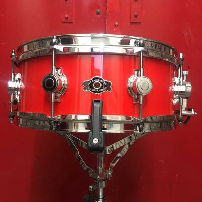 George Way 14x5.5 Aristocrat Acacia Snare Drum 2020 Hot German Red AA554-HR