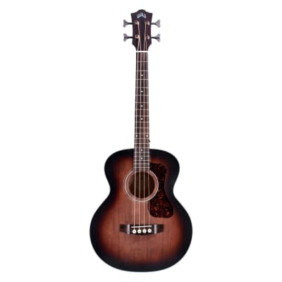 Guild Jumbo Junior Acoustic Bass Guitar - Antique Charcoal Burst Finish for sale