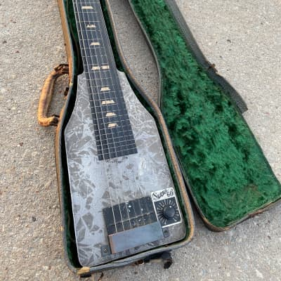 Supro 60 electric lap steel guitar 1930's Grey crinkle for sale