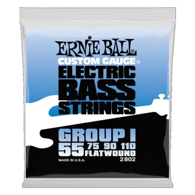 Ernie Ball Flatwound Group I Electric Bass Strings - 55-110 Gauge 2802