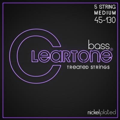 Cleartone Nickel Plated Bass Treated 5 String 6455-5 Medium .045-.130