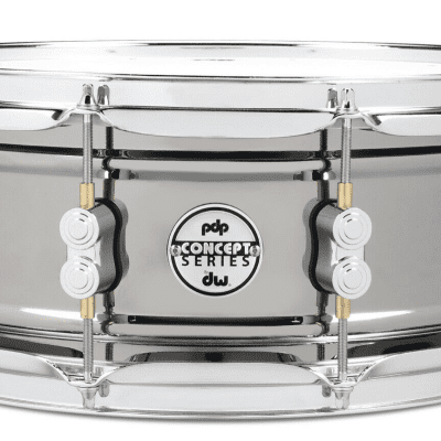 PDP Concept Series Metal Snare 5.5x14 Black Nickel Over Steel w/Chrome Hardware