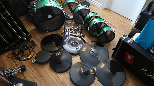 Electronic Drum Kit with PinTech Triggers and Cymbals