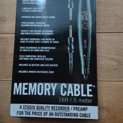 Gibson 16' (5m) Memory Cable Compact Recorder/Instrument Cable for sale