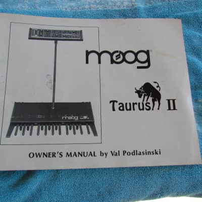 Original Moog Taurus II Bass Pedals Manual 1982 Complete Manual Very Good Condition Complete