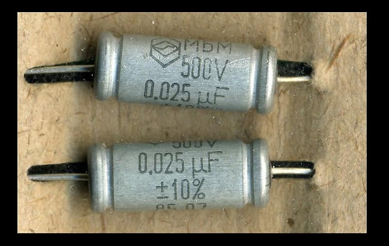 025uf tone capacitor. Russian NOS. Military specs. Tested. 2 | Reverb