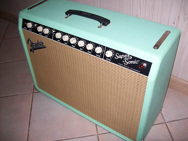 fender super sonic 22 limited edition sea foam green wheat reverb. Black Bedroom Furniture Sets. Home Design Ideas