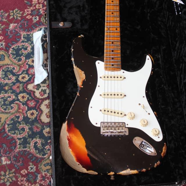 Fender Custom Shop LTD Heavy Relic Mischief Maker - Black Over Three Tone Sunburst 2016 image