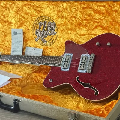 Koll Guitars Duo Glide Candy Apple Red Sparkle  PBG Boutique Hollowbody Beauty 2014 for sale