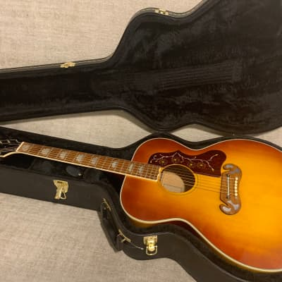 Vintage 1973 Maya MJ200 J200 Jumbo Copy Sunburst + Hard Case New Martin Strings Gorgeous Lawsuit Era for sale