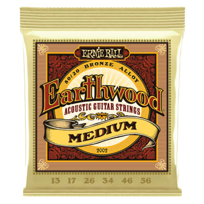 Ernie Ball 2002 Earthwood Medium 80/20 Acoustic 13-56