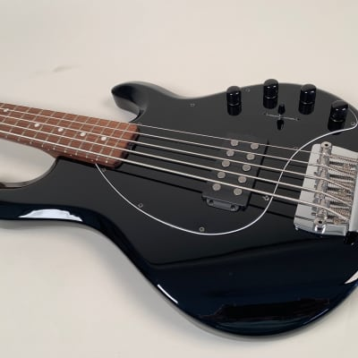 Ernie Ball Musicman Stingray 5H 2014 Black, Rare Solid Rosewood Neck. for sale