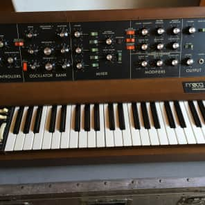 MiniMoog Model D,  Late 1970s  Vintage Analog Synthesizer w Road Case