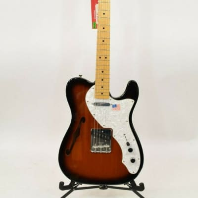 Fender American Vintage '69 Thinline Telecaster Guitar -  2 Color Sunburst for sale