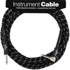 Fender Custom Shop Cable, 18.6', Black, Angled