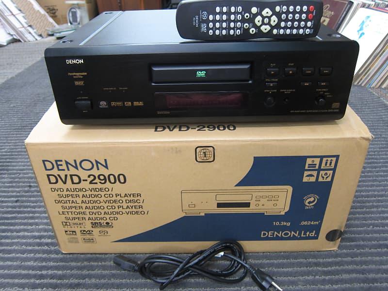 Denon DVD-2900 CD, SACD DVD Top Line Player, Box, Remote, Pristine, Ex  Sound, Performance Black