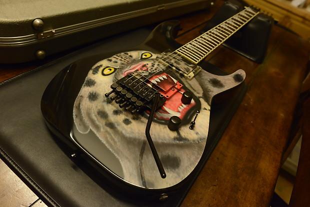 Jackson Custom Shop USA Soloist Cheetah-Leopard Cat Graphic All Original  Vintage 1988 SL2H Guitar!