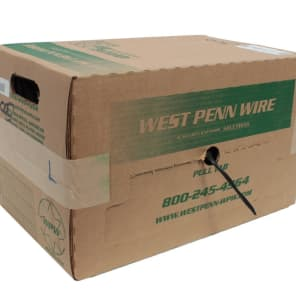 West Penn 226-GY-500 2-Conductor 14-AWG Unshielded CMR Rated Cable - 500'