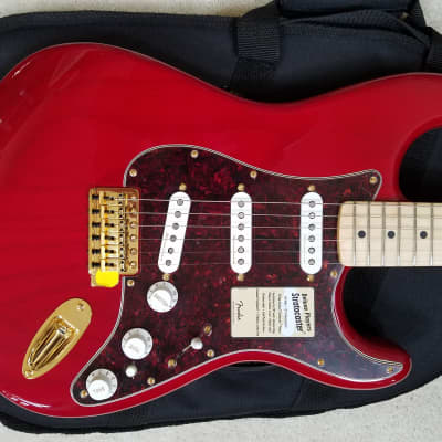Fender Stratocaster Deluxe Player  2016 Crimson Red Transparent Ash w/DeLuxe Gig Bag for sale