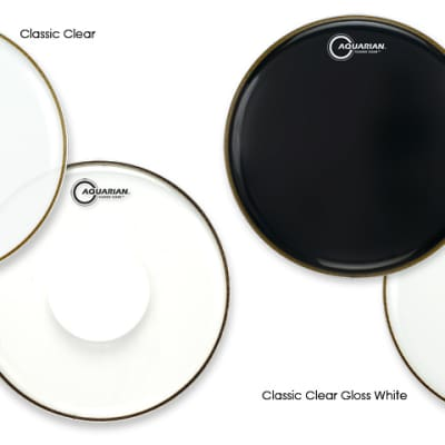"""Aquarian 13"""" Classic Clear Snare Side Drumhead"""