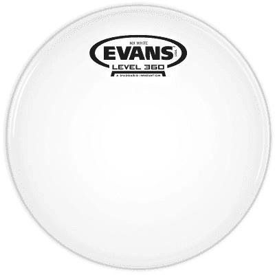 "Evans TT08MXW MX White Marching Tenor Drum Head - 8"""
