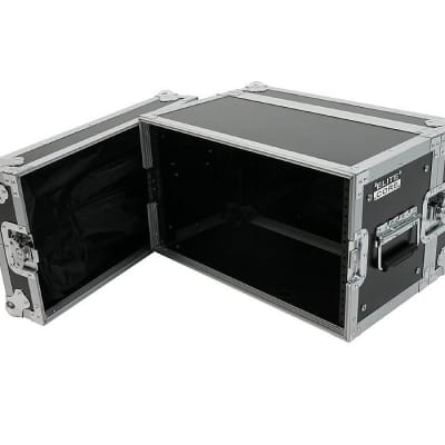 Elite Core 6-Space ATA 6U Shallow Effects Rack Road Tour Flight Case - RC6U-10