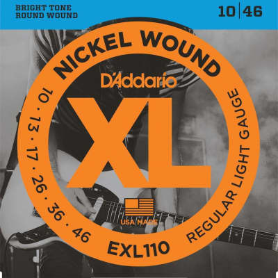 D'Addario XL Nickel Electric Strings - 10-46