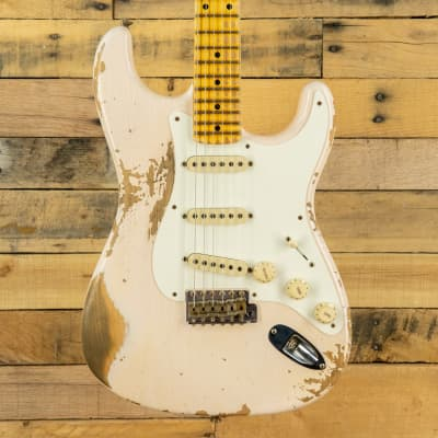Fender Custom Shop Limited '56 Heavy Relic Stratocaster Aged Shell Pink for sale