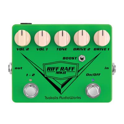 Tsakalis Audioworks Riff Raff MKII - Dual Overdrive 2021 Green
