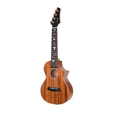 Enya M6 Solid Mahogany Tenor Acoustic-Electric Ukulele with Case