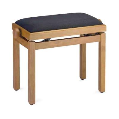 Stagg PB39 OAKM VBK Matt Piano Bench Oak Color w/Black Velvet Top
