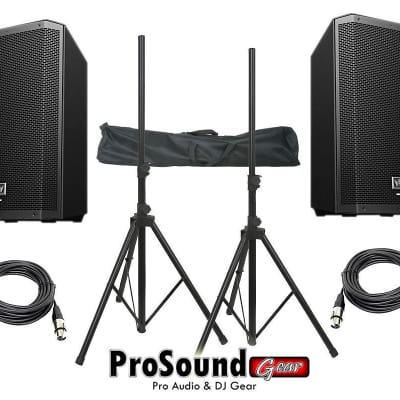 "Electro-Voice ZLX-12P 12"" 2-Way Powered Loudspeaker / (2) Xlr to Xlr Cables 20ft ea / (Pair) Speaker"