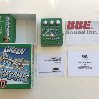 BBE Green Screamer V2 Tube Overdrive Rare Guitar Effect Pedal + Original Box