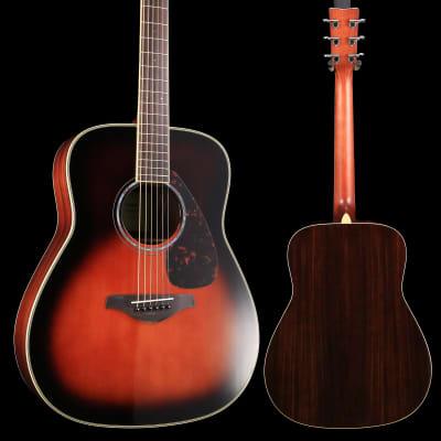 869a17c9bb Yamaha FG830 TBS Tobacco Sunburst Folk Guitar Solid Top Rosewood Back &  Sides