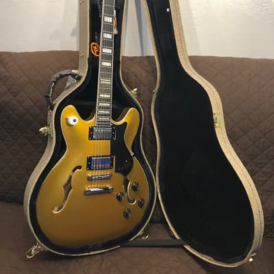 Hagstrom VIK-GJY Justin York Viking Semi-Hollow Dual-Humbucker 6-String Electric Guitar w/Hard Case for sale