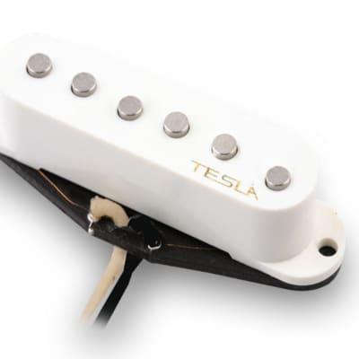 Tesla VR1 Single Coil Guitar Pickup - Bridge / White