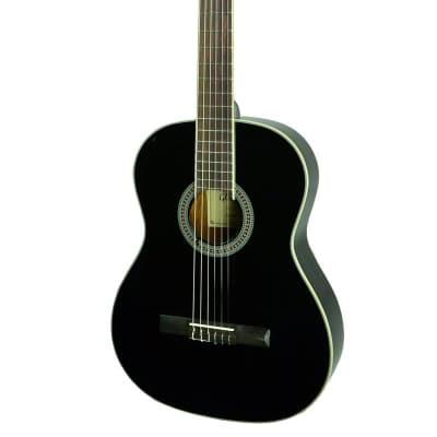 Glen Burton SGF39-BK Conservatory 4/4 Full Size Classical Guitar - Black for sale