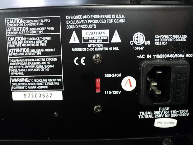 Gemini Xtr 400 Powered Subwoofer Pa Speaker System Reverb