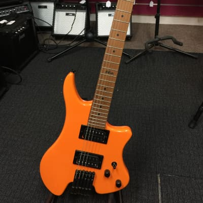 Kapok Light-Weight Headless Electric Guitar,HH,Solid Body,Orange+Free Bag KAHL001/ORG for sale