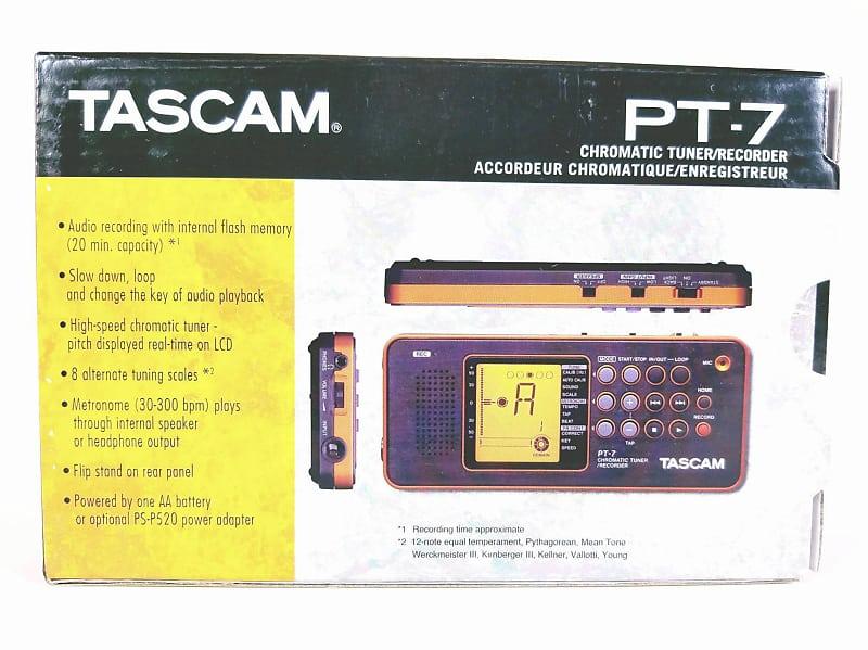 Tascam PT-7 Chromatic Tuner/ Recorder/Metronome BRAND NEW