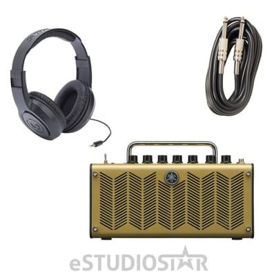 Yamaha THR5A Desktop Modeling Acou. Guitar Amp w/ Headphones & Instrument Cables